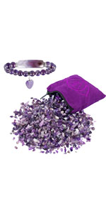 natural healing crystal set, chakra chip stones with stone bead bracelet