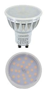 Mr16 Led Lampe Dimmbar 12vdc Ersetzt 50w Gu5 3 Halogen Warmweiss 2700k 500 550lm Luokoed 5er Pack Amazon De Beleuchtung