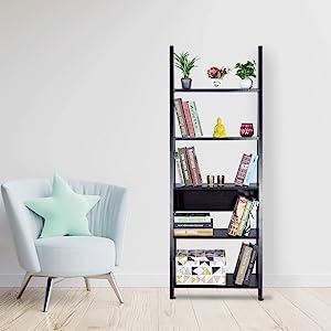 DeckUp Reno Book Shelf/Display and Storage Unit (Dark Wenge, Matte Finish SPN-FOR1