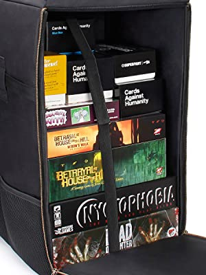 Backpack with Board Games inside