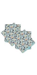 print printed microfiber micro fiber cleaning cloth set towel dish pack
