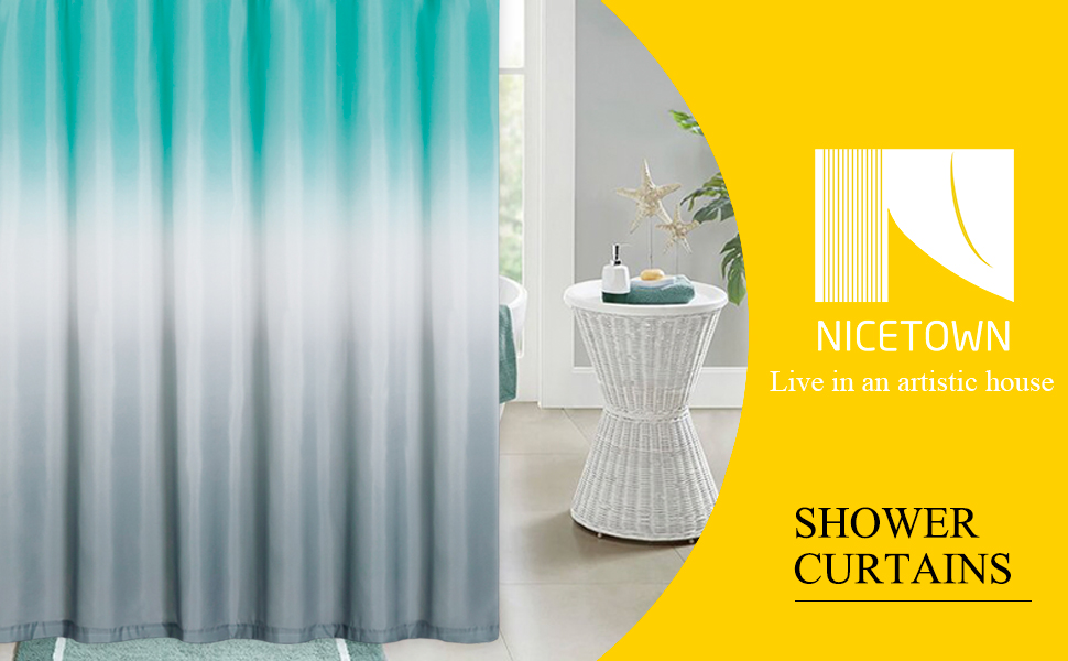 ombre shower curtains