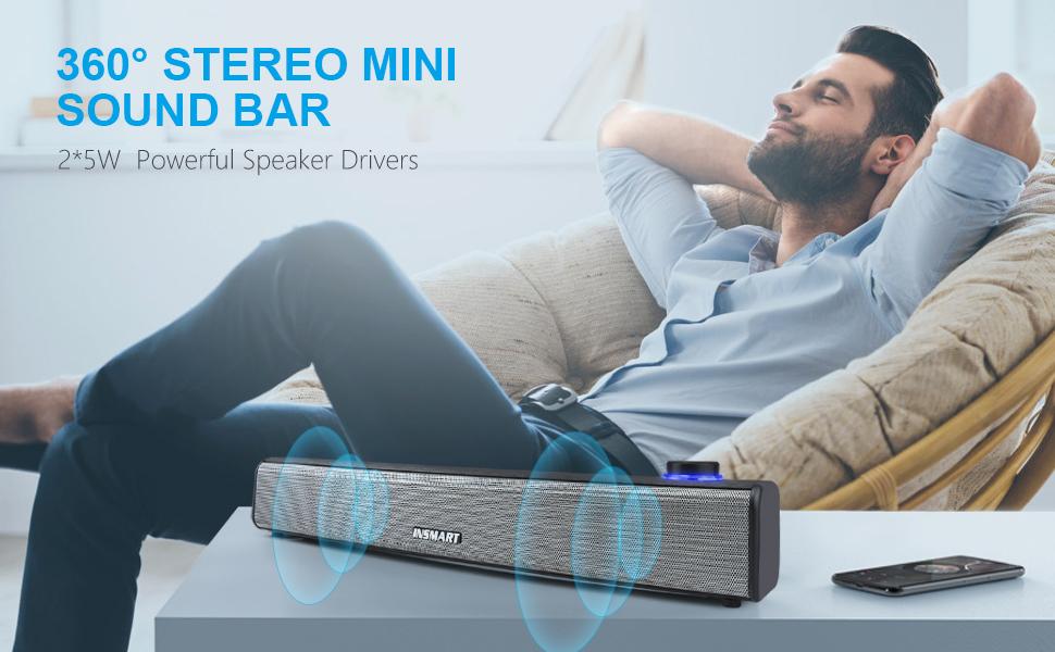 360 stereo mini sound bar