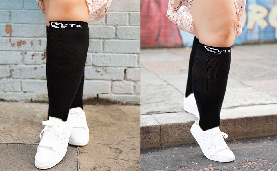 Zeta Sleeve socks XXL Wide Calf Compression Sleeves, Plus size, men, woman, circulation, edema