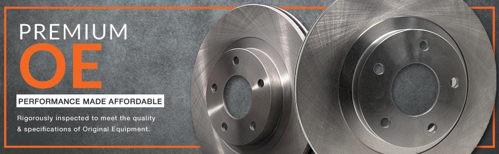 Max Brakes Front /& Rear Premium XD Rotors and Ceramic Pads Brake Kit KT155823-1