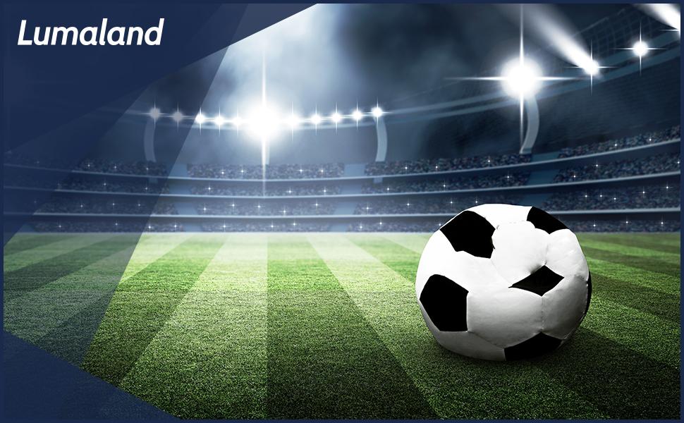 Lumaland Puf Asiento cojín Pelota balón de fútbol 90 cm: Amazon.es ...