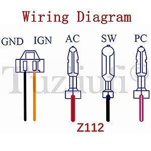 xtreme 90cc atv wiring diagram amazon com tuzliufi replace cdi box yamaha jog engine on 50cc  cdi box yamaha jog engine on 50cc