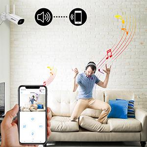 wireless camera with 2-way audio