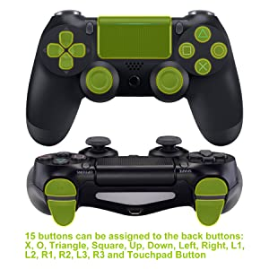 Textured Green Dawn Programable Remap Kit for PS4 Slim Pro Controller JDM-040 JDM-050 JDM-055 4