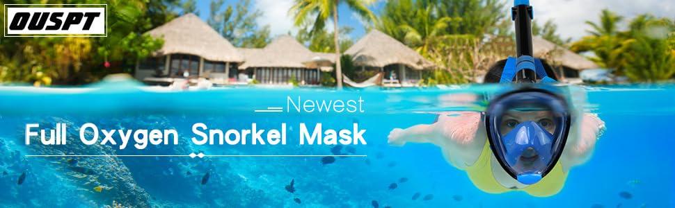 Snorkel mask full face