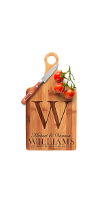 Amazing Items Personalized Cutting Board Custom Laser Engraved Bamboo Cutting Board Paddle