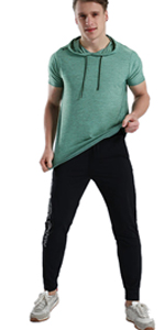 Hooded Gym T Shirts