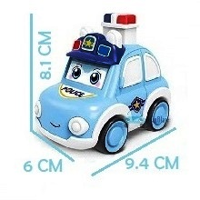 Police car toy for kids, police van toy, pull back toys, toys for boys  2 year old, kids police car
