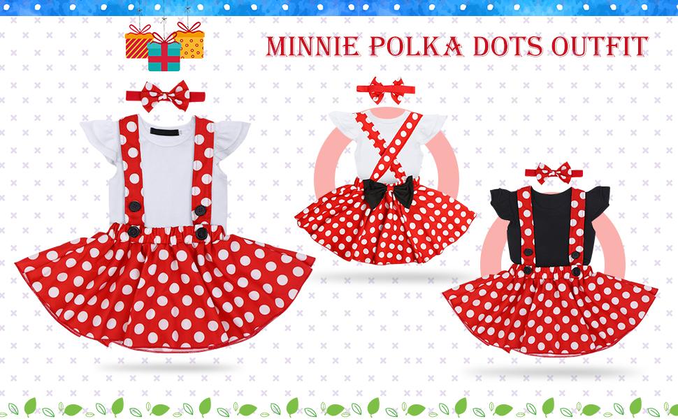 Baby Girl Suspenders Skirt Set