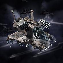 Colonial Heavy Raptor, battlestar galatica, hero collector, eaglemoss