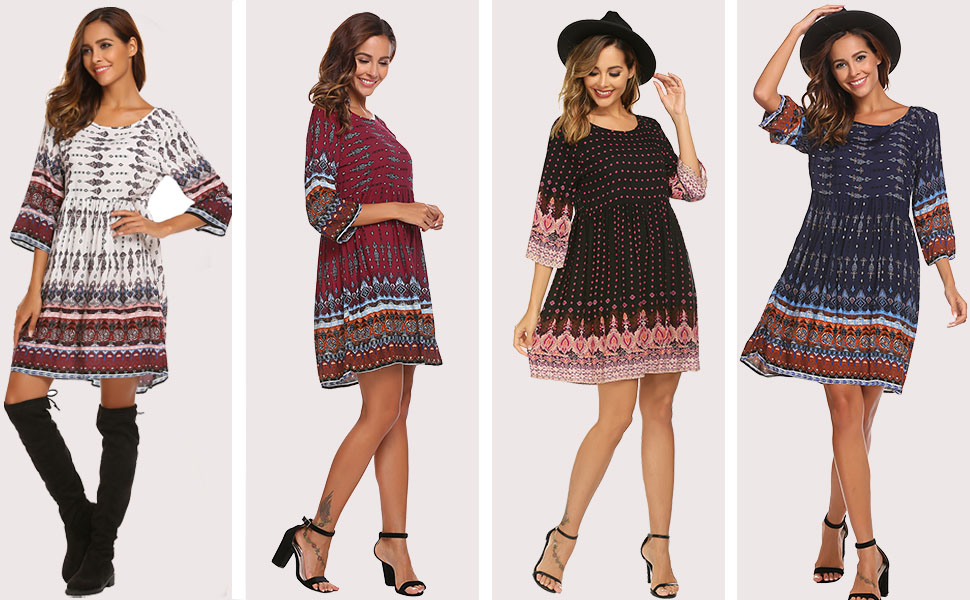bohemian dresses for women