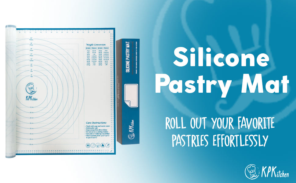 Our silicone baking mat will roll out beautiful pastries effortlessly