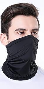 cloth face mask reusable neck gaiter balaclava headband for men women