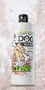 grip clean natural dog shampoo conditioner moisturizing safe animals pets outdoors odor stinky fur