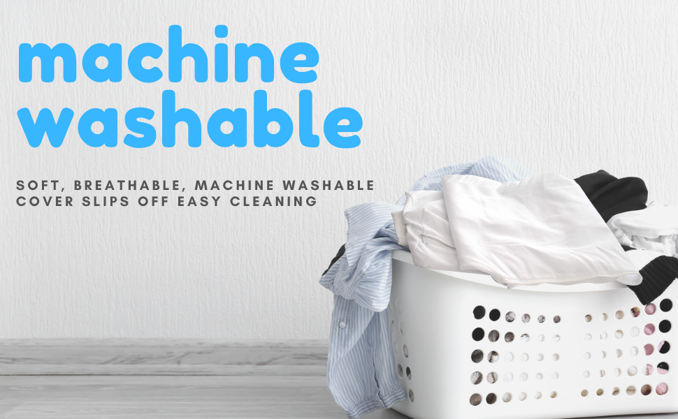 machine washable removable cover easy to clean