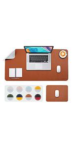 desk pad blotter brown