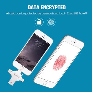 USB Flash Drive for iPhone Fingerprint encryption, folder encryption privacy protection