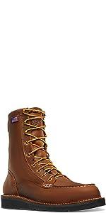 danner bull run moc toe work boot industrial construcion non steel toe electric hazard