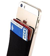 card holder for back of phone card wallet pocket sleeve stick on wallet for phone stick on