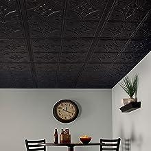 Black Antique Genesis Ceiling Tiles