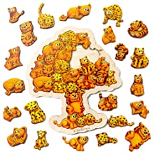 animal puzzles, wooden jigsaw puzzle, toddler educational toys age 3 and 4, montessori puzzle