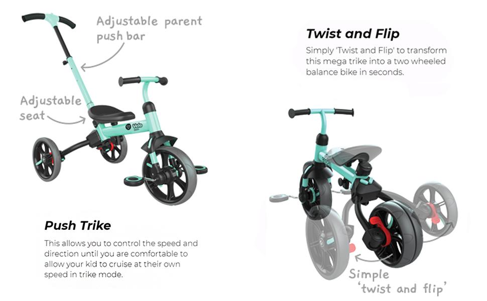 Y velo flippa balance bike to trike