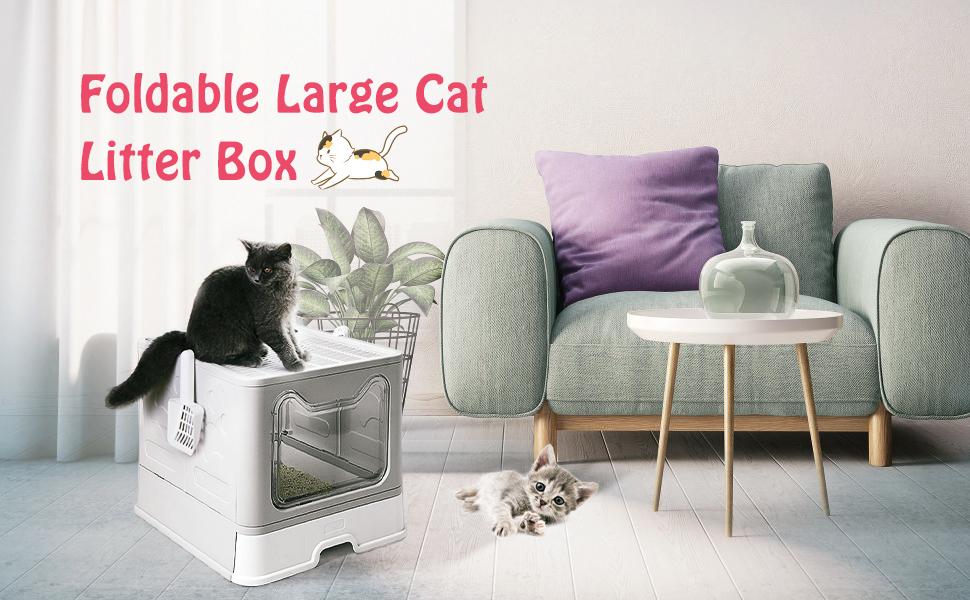 Foldable Large Cat Litter Box
