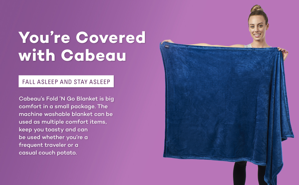 cabeau, fokd n go, blanket, soft, baby, friendly, pet, portable, travel blanket, plane