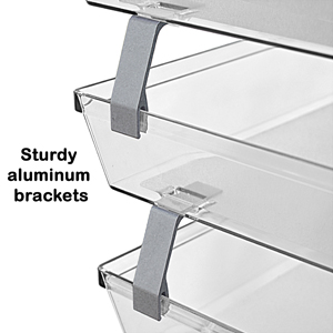 acrimet facility letter tray 4 tier side load clear crystal color