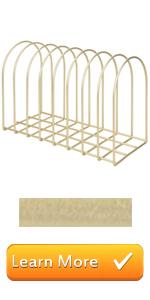 brass metal wire document magazine file folder desktop sorter organizer storage rack office supplies