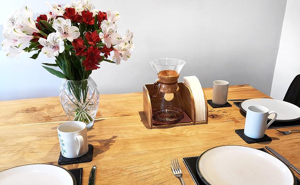 Hexnub Soporte organizador de café para cafeteras con filtro ...