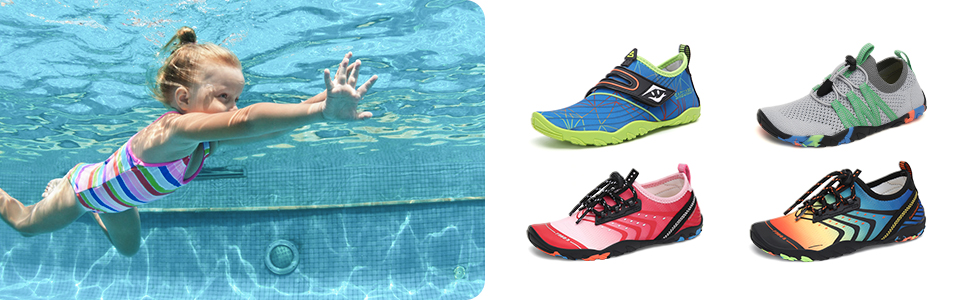 children swimming shoes