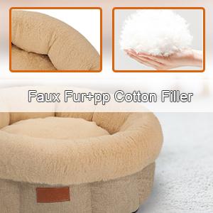 1.Soft Faux Fur&High Elastic PP Cotton Filler
