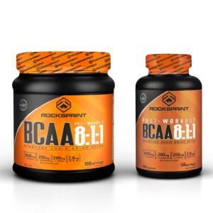 ROCKSPRINT   BCAA EN CAPSULAS   Aminoácidos Esenciales y Vitaminas B   BCAA 8:1:1   200 caps