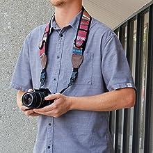 Color : Deep Green ZL-U Camera Strap Anti-Slip Elastic Adjustable Neoprene Quick Sling Strap for Camera Black