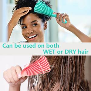 hair brush wet hair