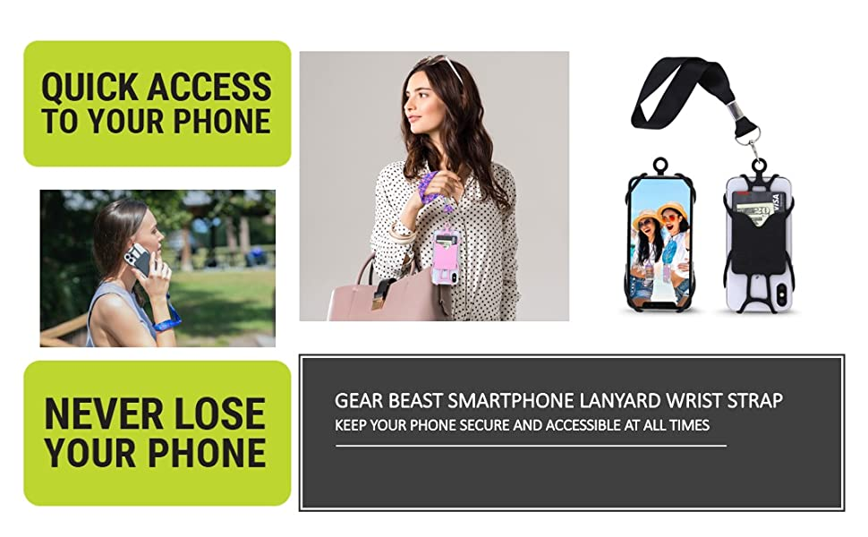 phone lanyard wrist strap holder