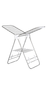Faltbarer Wäscheständer, tragbarer Flügelwäschetrockner, Edelstahl