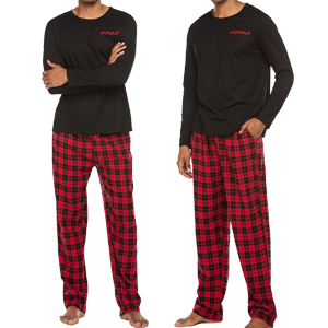 Ekouaer Sleepwear Men's Pajamas Set