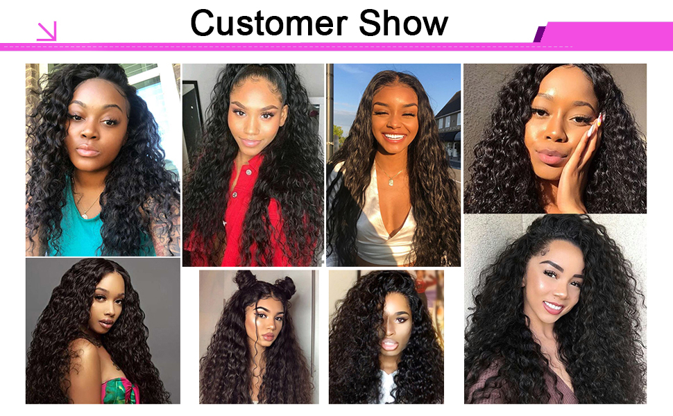 wet and wavy lace closure wigs