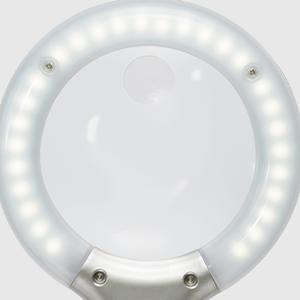 LED Illuminated Magnifier Optical-grade 2x 4x lighted spot viewer