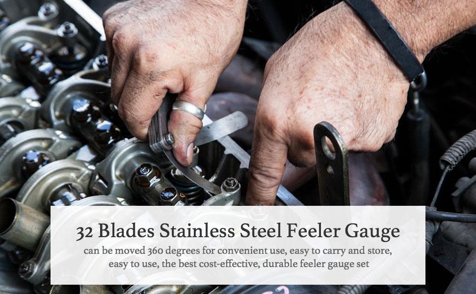 32 Blades Stainless Steel Feeler Gauge