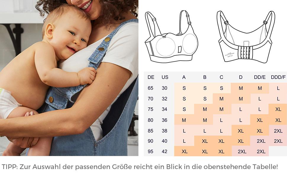 iLoveSIA Bequemer Still BH ohne Bügel für Stillen, Schlaf und Schwangerschaft Mit Einlagen A+