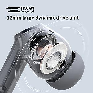 12mm large dynamic drive unit HCCAW voice coil