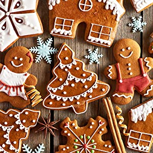 Winter Holiday Cookies Molds